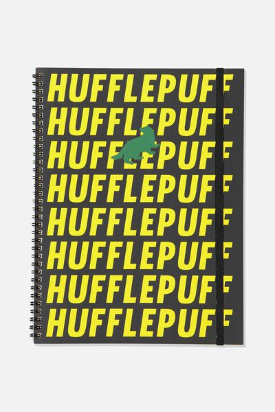 A4 Spinout Notebook - 120 Pages, LCN WB HP HUFFLEPUFF