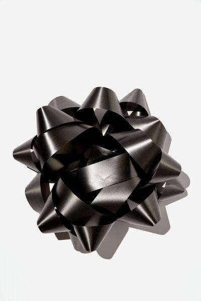 Jumbo Gift Bow, MATTE BLACK
