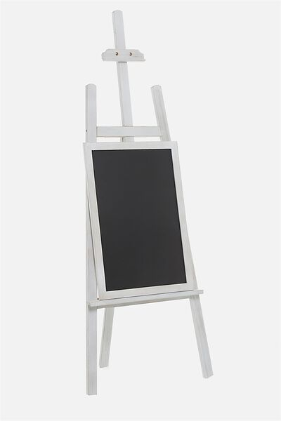 Decor easel chalkboard white wash junglespirit Gallery