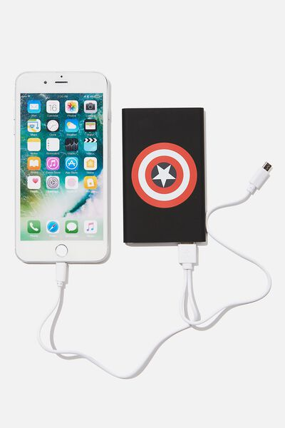 Printed Charge It Charger, LCN MARVEL CAPTAIN AMERICA