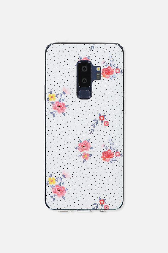 Printed Phone Cover S9 Plus, DOTTY FLORAL