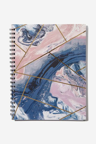 A4 Campus Notebook, MOODY MARBLE