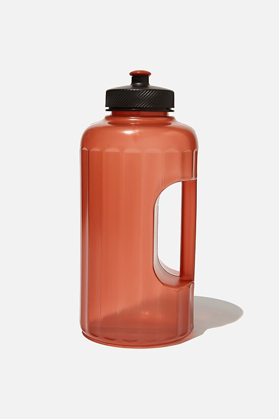 Faceted Drink Bottle, CH RUST