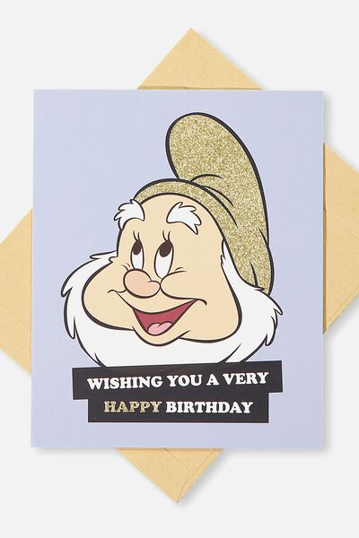 Nice Birthday Card, LCN SNOW WHITE HAPPY