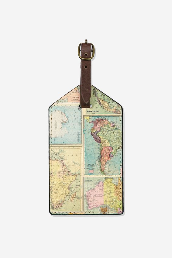Luggage Tag, WORLD MAP