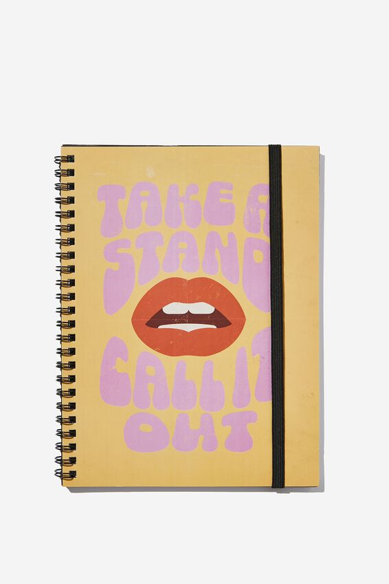 Small Spinout Notebook, TAKE A STAND CALL IT OUT MOUTH