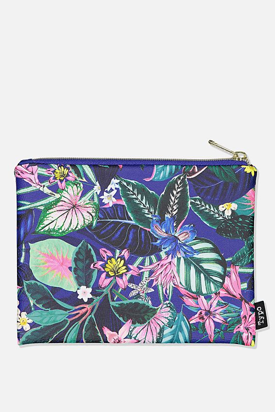 Pu Campus Pencil Case, RESORT FLORAL