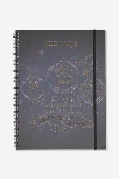 A4 Spinout Notebook - 120 Pages, LCN HARRY POTTER POTIONS
