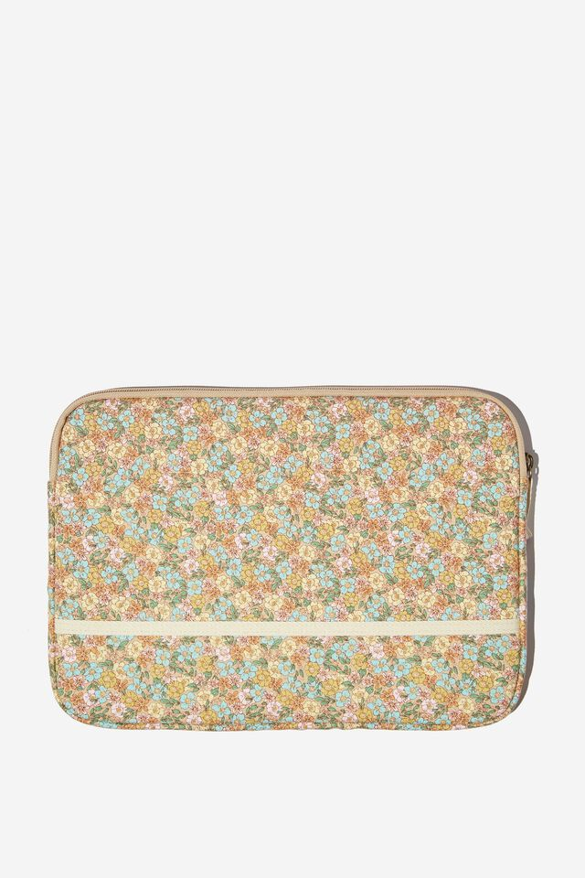 Take Me Away 13 Inch Laptop Case, DITSY FLORAL SAND