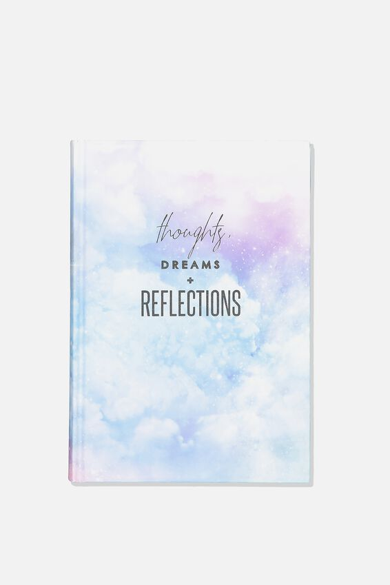 Activity Time Journal A5, CLOUDS THOUGHTS AND REFLECTIONS