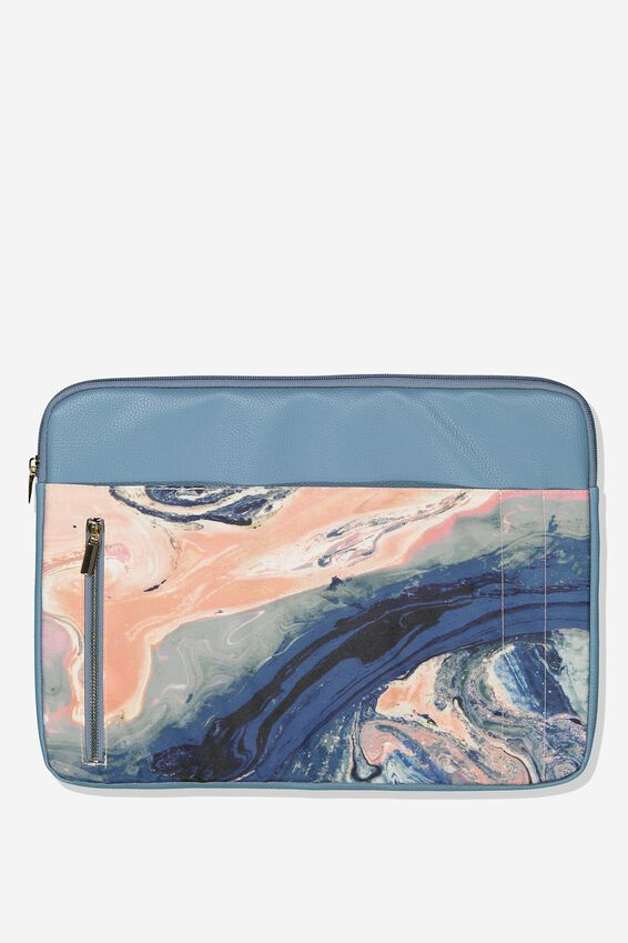 Take Charge 15 Inch Laptop Cover, MOODY MARBLE