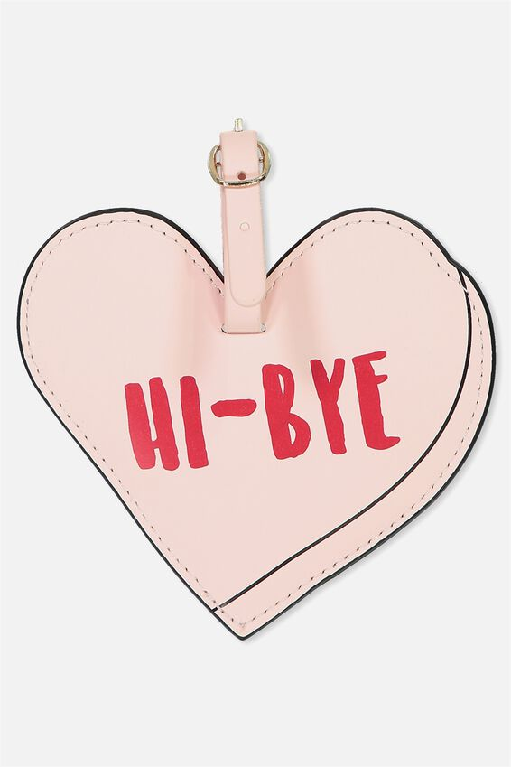 Shape Shifter Luggage Tag, HEART HI BYE