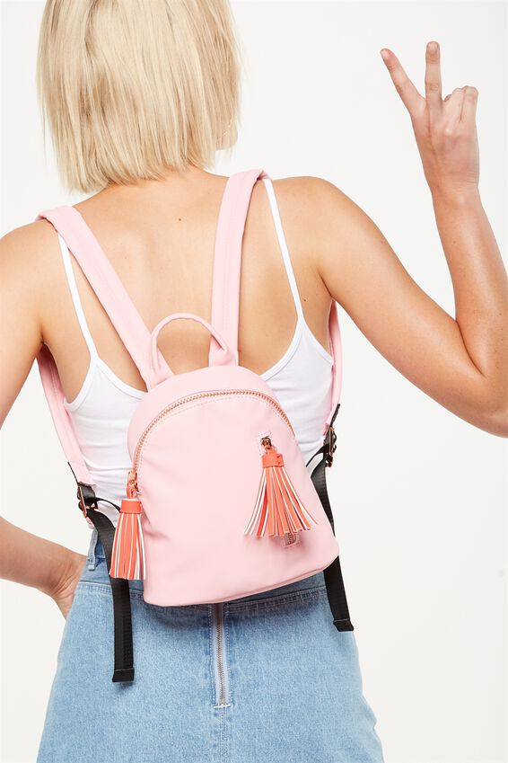 Santa Fe Backpack, PINK & RED