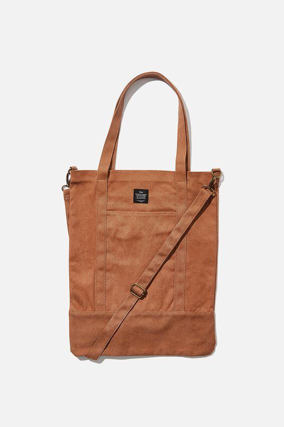 Book Tote Bag, MID TAN