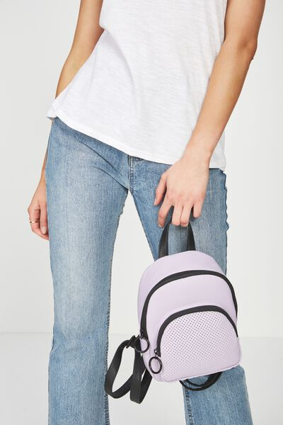 Mini Madrid Backpack, LILAC PERFORATED