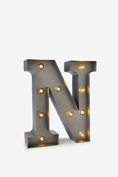 Small Marquee Letter Lights 23cm, SILVER N