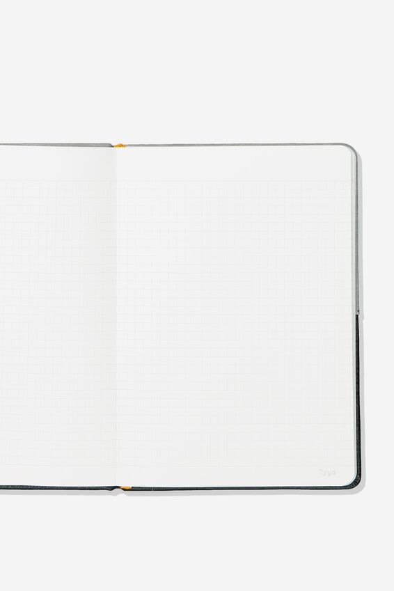 "A5 Note Taker Grid Journal (8.27"" x 5.83""), CONCRETE BLACK"