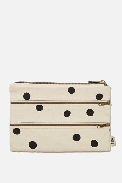 Double Archer Pencil Case, DOTTIE SPOT