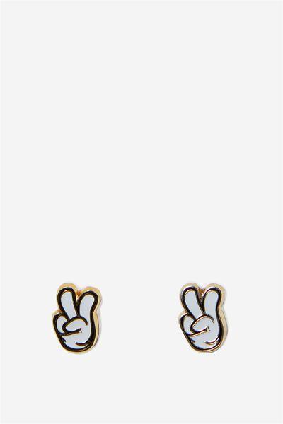 Novelty Earrings, LCN MICKEY PEACE