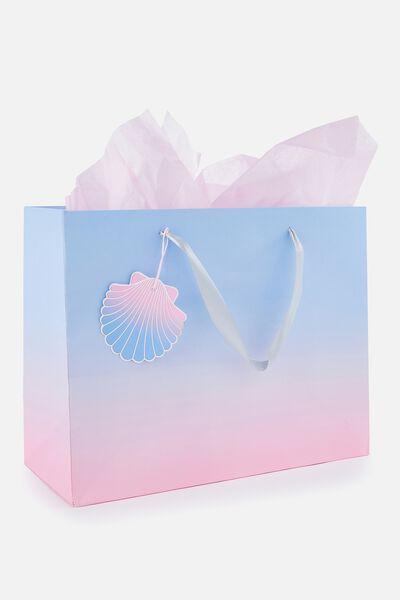Medium Gift Bag with Tissue Paper, MERMAID GRADIENT