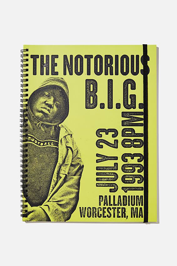 A4 Spinout Notebook Recycled, LCN MT BIG YELLOW TAXI 1993