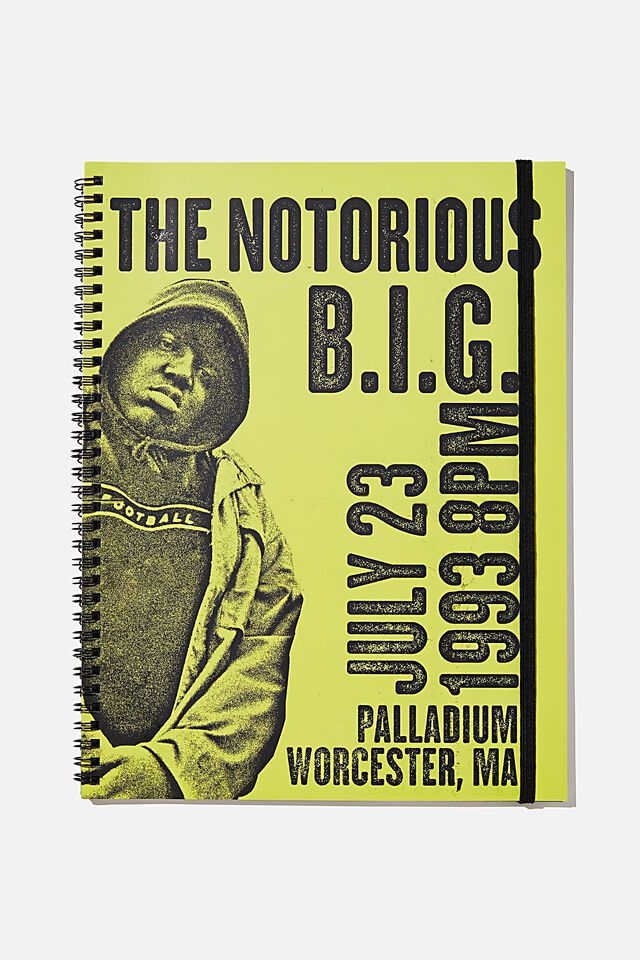 A4 Biggie Spinout Notebook Recycled, LCN MT BIG YELLOW TAXI 1993