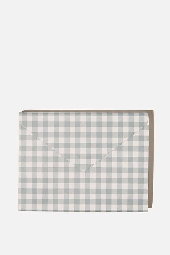 Pocket Sticky Note Set, GINGHAM HYACINTH
