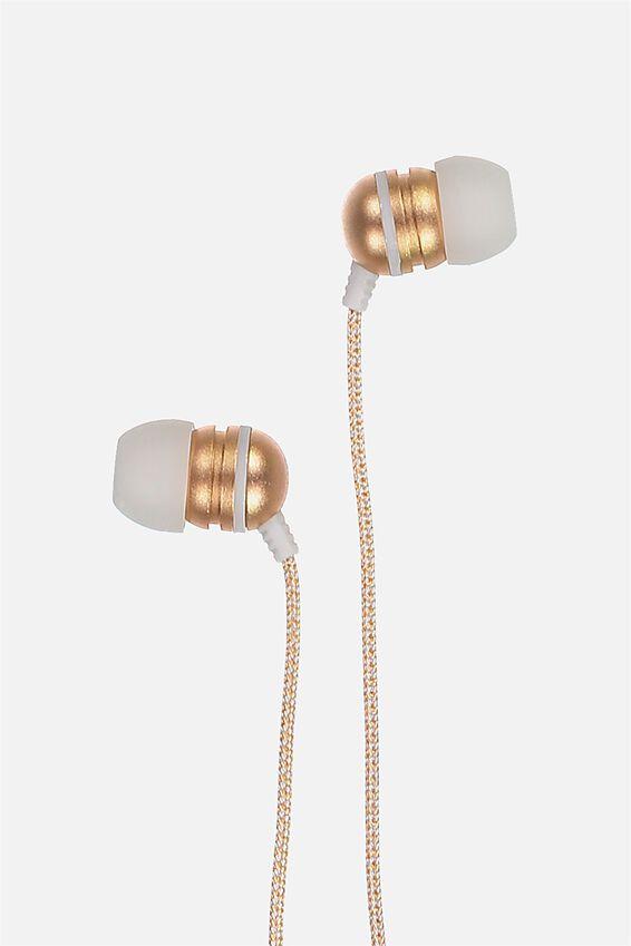 Luxe Earphones, ROSE GOLD