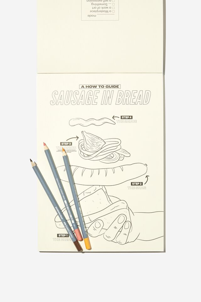 Artists Assistant Colouring In Book, AUSTRALIANA