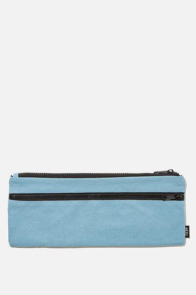 Patti Pencil Case, DENIM BLUE CANVAS