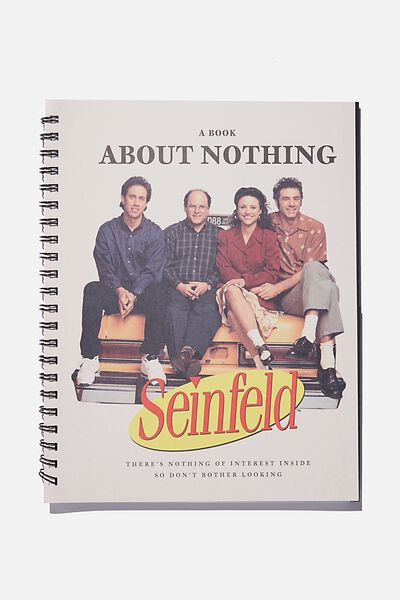 A4 Campus Notebook Recycled, LCN WB SEINFELD BOOK ABOUT NOTHING