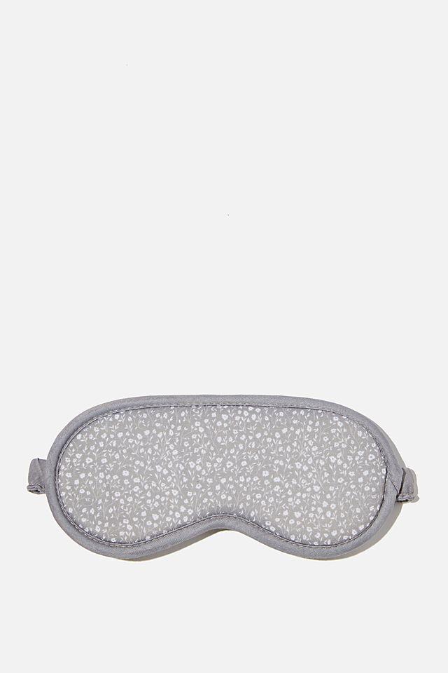Premium Sleep Eye Mask, COOL GREY MEADOW DITSY