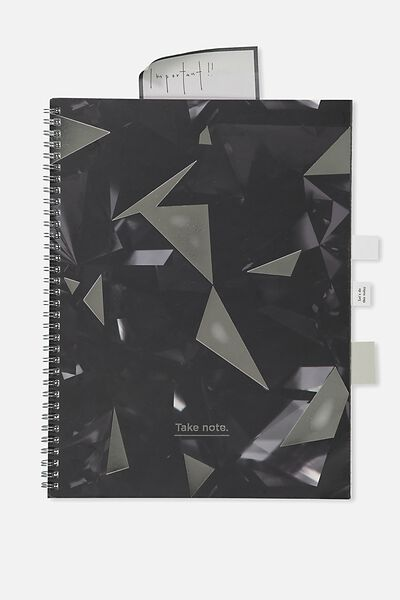 A4 Spinout Notebook - 120 Pages, WORK WORK WORK