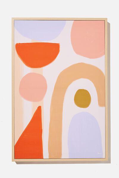40 X 60 Canvas Art, LILAC NATURAL SHAPES