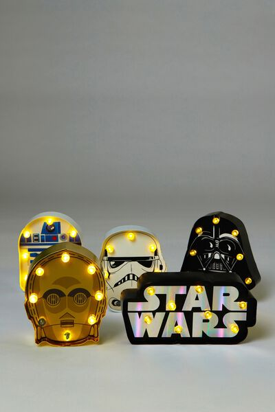 Shaped Mini Marquee Box Set Lights, LCN STAR WARS MULTI