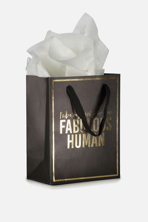 Small Gift Bag with Tissue Paper, FABULOUS HUMAN