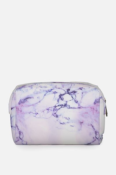 Dual Zipper Cosmetic Case, LUSH MARBLE
