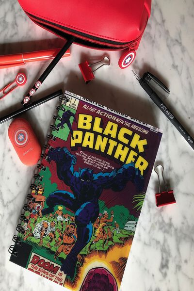 Medium A5 Lenticular Notebook, LCN MAR BLACK PANTHER