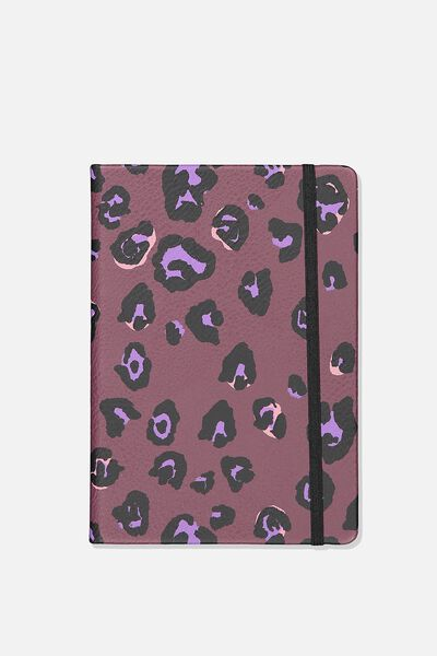 A5 Buffalo Journal, PURPLE LEOPARD