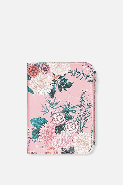 Classic Passport Holder, DUSTY PINK FLORAL