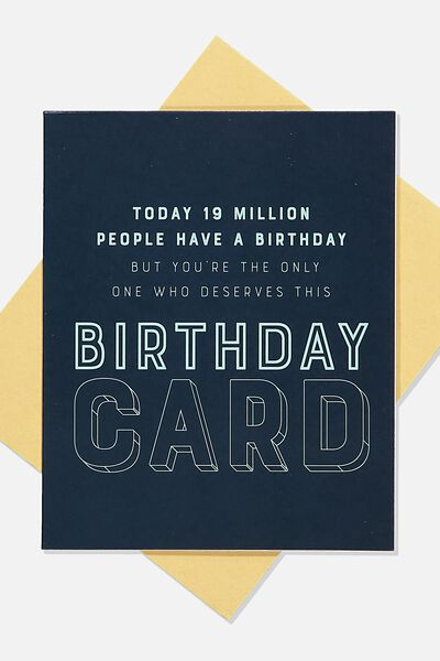 Funny Birthday Card, DESERVES THIS CARD