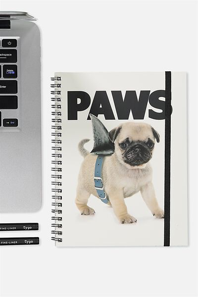 A5 Spinout Notebook - 120 Pages, PAWS