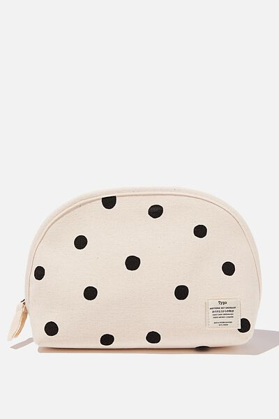 Canvas Essential Pouch, OVERSIZED POLKA