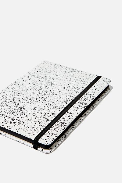 A5 Dot Buffalo Journal, WHITE SPLATTER