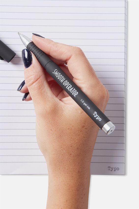 Smooth Operator Gel Pen, BLACK