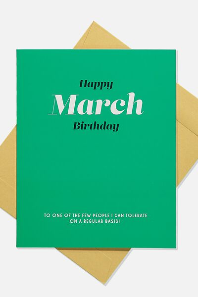 Nice Birthday Card, HAPPY MARCH BIRTHDAY