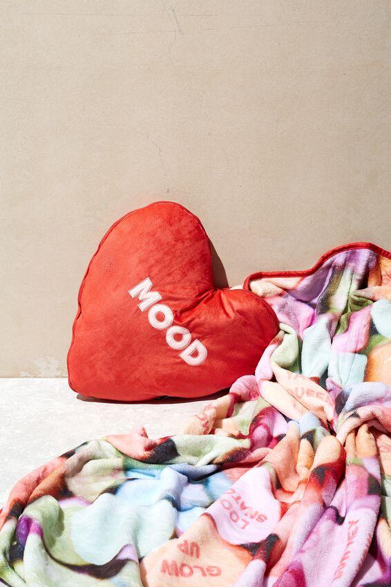 Convertible Cushy Cushion Throw, MOOD CANDY HEART