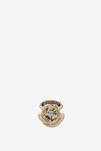Licenced Metal Phone Ring, LCN WB HOGWARTS CREST