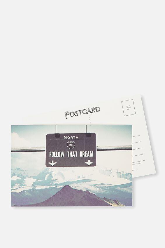 Postcard, FOLLOW THAT DREAM