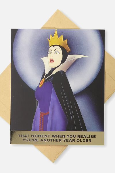 Funny Birthday Card, LCN SNOW WHITE OLDER